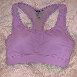 Mesh back sports bra
